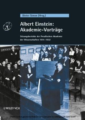 Albert Einstein: Akademie-Vortrge