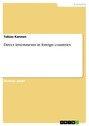 Direct investments in foreign countries