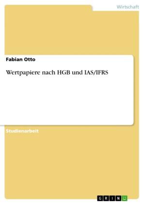 Wertpapiere nach HGB und IAS/IFRS