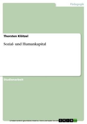 Sozial- und Humankapital
