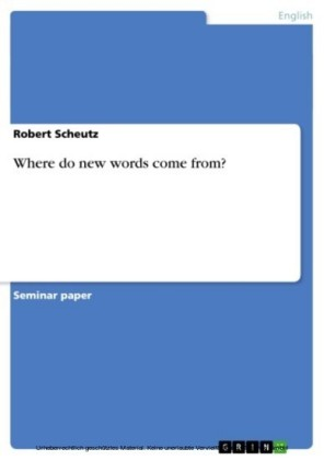 Where do new words come from?