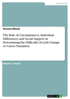 The Role of Circumstances, Individual Differences and Social Support in Determining the Difficulty of a Job Change or Career Transition