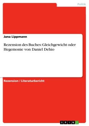 Rezension des Buches: Gleichgewicht oder Hegemonie von Daniel Dehio