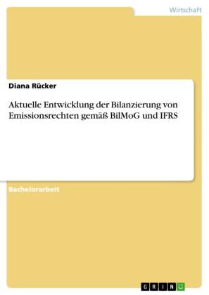 Aktuelle Entwicklung der Bilanzierung von Emissionsrechten gemäß BilMoG und IFRS