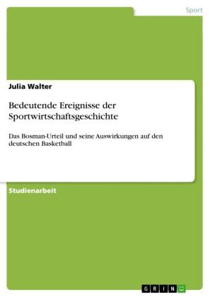 Bedeutende Ereignisse der Sportwirtschaftsgeschichte