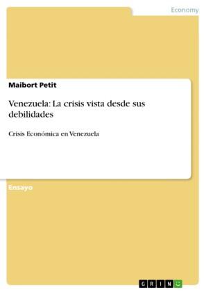 Venezuela: La crisis vista desde sus debilidades