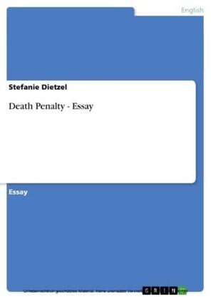 Death Penalty - Essay