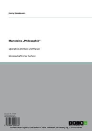 Mansteins Philosophie