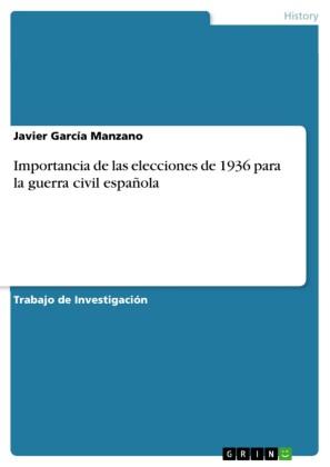 Importancia de las elecciones de 1936 para la guerra civil española