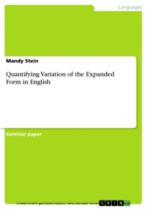 Quantifying Variation of the Expanded Form in English