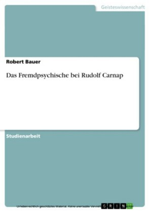 Das Fremdpsychische bei Rudolf Carnap