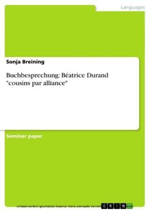 Buchbesprechung: Béatrice Durand 'cousins par alliance'