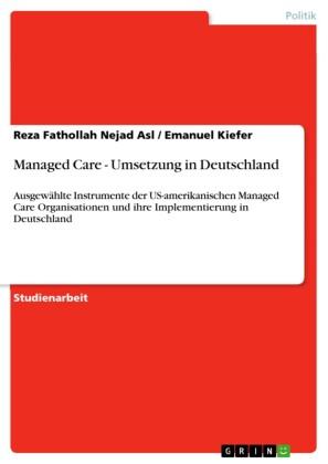 Managed Care - Umsetzung in Deutschland
