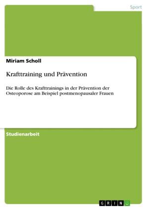 Krafttraining und Prävention