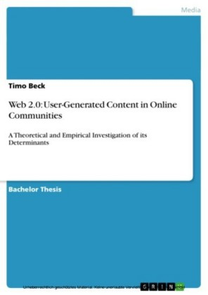 Web 2.0: User-Generated Content in Online Communities