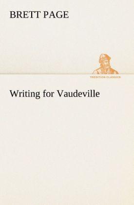 Writing for Vaudeville