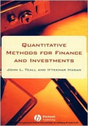 Quantitative Methods for Finance and Investments