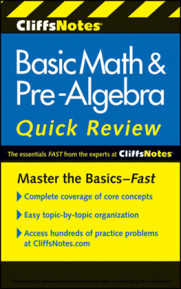 CliffsNotes Basic Math and Pre-Algebra Quick Review