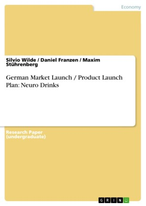 German Market Launch / Product Launch Plan: Neuro Drinks