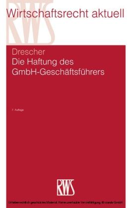 Die Haftung des GmbH-Geschäftsführers