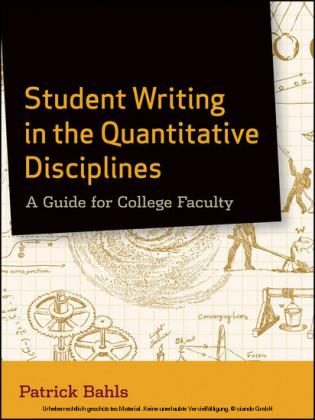 Student Writing in the Quantitative Disciplines