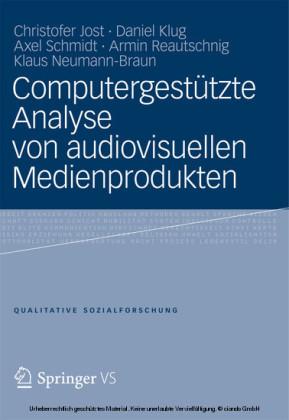 Computergestützte Analyse von audiovisuellen Medienprodukten