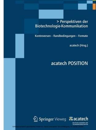 Perspektiven der Biotechnologie-Kommunikation