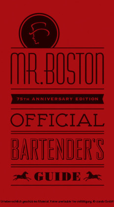 Mr. Boston Official Bartender's Guide