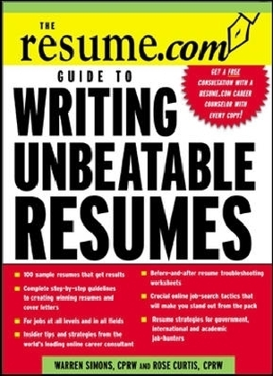 Resume.Com Guide to Writing Unbeatable Resumes