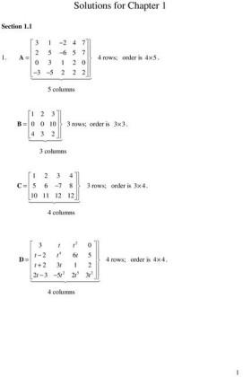 Student Solutions Manual, Matrix Methods