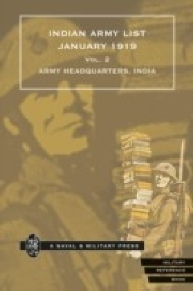 Indian Army List January 1919 - Volume 2