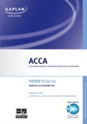 ACCA F3 Financial Accounting (FA) UK & Int