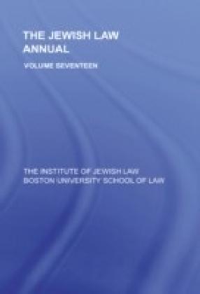 Jewish Law Annual Volume 17