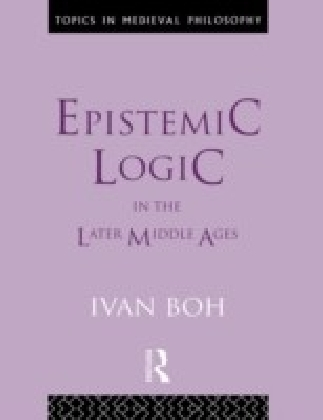Epistemic Logic in the Later Middle Ages