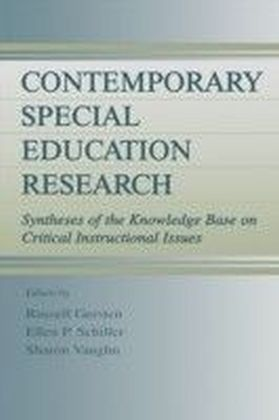 Contemporary Special Education Research
