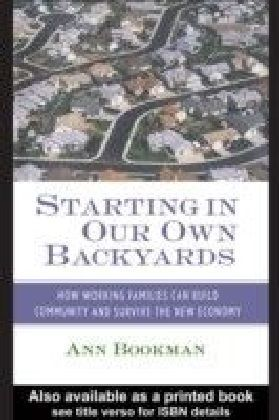 Starting in Our Own Backyards