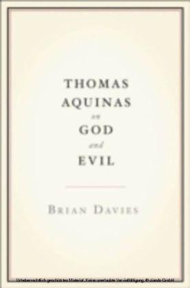 Thomas Aquinas on God and Evil