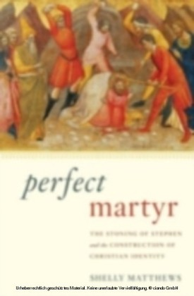 Perfect Martyr The Stoning of Stephen and the Construction of Christian Identity