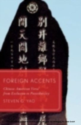 Foreign Accents Chinese American Verse from Exclusion to Postethnicity