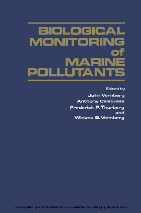 Biological Monitoring of Marine Pollutants