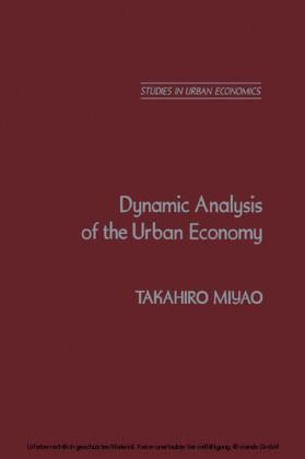 Dynamic Analysis of the Urban Economy