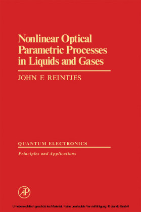 Nonlinear Optical Parametric Processes in Liquids and Gases
