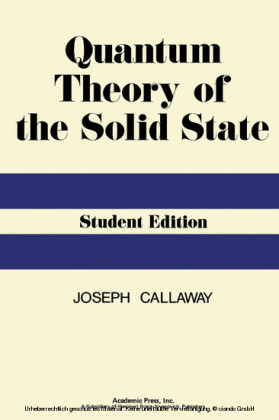Quantum Theory of the Solid State