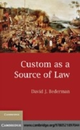 Custom as a Source of Law