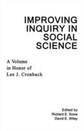 Improving Inquiry in Social Science