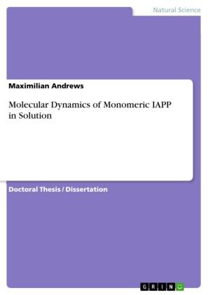 Molecular Dynamics of Monomeric IAPP in Solution