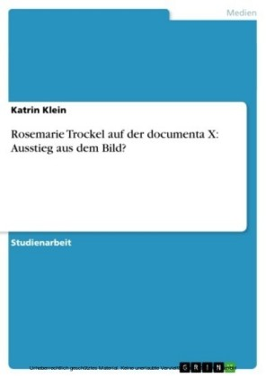 Rosemarie Trockel auf der documenta X: Ausstieg aus dem Bild?