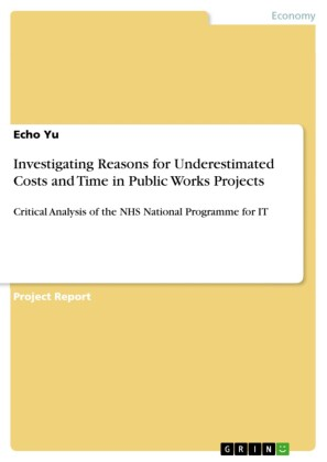 Investigating Reasons for Underestimated Costs and Time in Public Works Projects