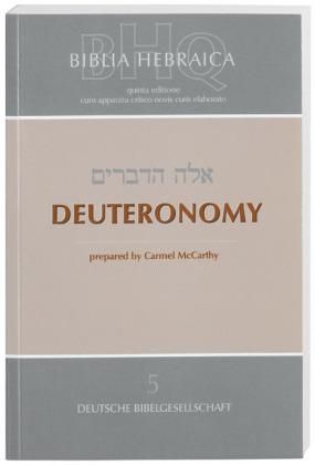Biblia Hebraica Quinta (BHQ), Deuteronomy