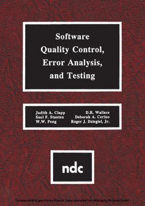 Software Quality Control, Error, Analysis